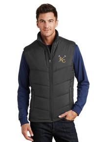 Men's Black Port Authority Puffy Vest with RC Lacrosse Logo