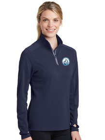 Navy Sport-Tek Ladies 1/4 Zip Pullover w/embroidered Pinncle Logo
