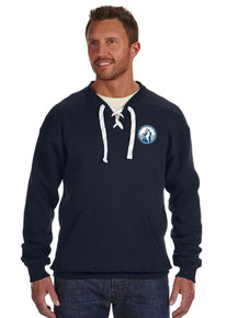 Navy Adult Sport Lace Crewneck Sweatshirt