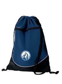 Navy Drawstring Cinch Bag w/embroidered Pinnacle Logo