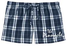 Juniors Navy Plaid Boxer Shorts w/Pinnacle Heat Press