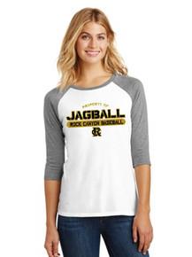 Ladies 3/4 Sleeve Raglan w/RC Baseball Heat Press