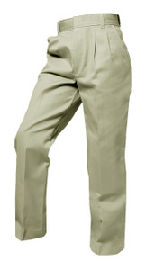 Boys Pants - Pleated Front - Khaki