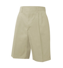 Boys Shorts - Pleated Front - Khaki or Black