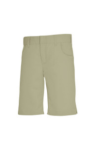 Girls Shorts - Mid Rise Shorts - Khaki or Navy