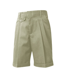 Girls Shorts - Pleated Front - Khaki or Navy