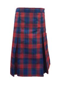 Girls Skirt - Center Box Pleat in Plaid 94