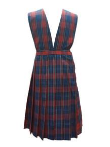 K-5th Grade Girls Jumper - V-Neck top, Knife Pleat Skirt in Plaid 94