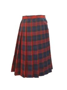 Girls Skirt - Knife Pleat Plaid 94