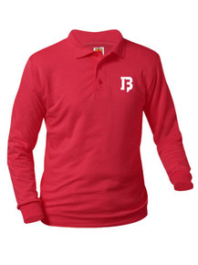 Jersey Knit Long Sleeve Polo Shirt - BFA