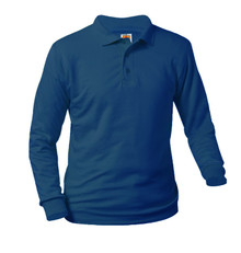 Jersey Knit Long Sleeve Polo Shirt - AA