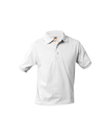 Jersey Knit Short Sleeve Polo Shirt - White