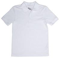 Unisex Value Line Short Sleeve Polo - White