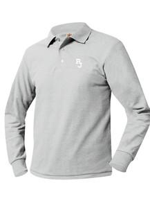 Pique Knit Long Sleeve Polo Shirt - Regis