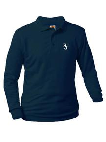 Jersey Knit Long Sleeve Polo Shirt - Regis