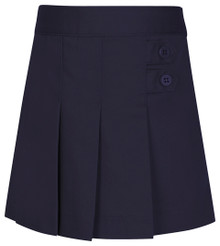 Girls Skort - Two Tab w/Pleats - Navy