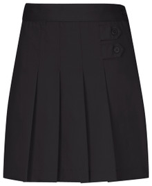 Girls Skort - Two Tab w/Pleats - Black