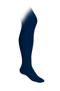 Girls Flat Knit Tights - Navy