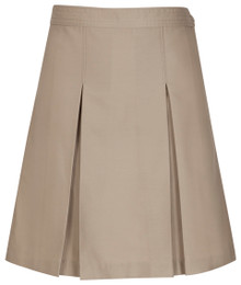 Girls Skirt - Center Box Pleat - Khaki