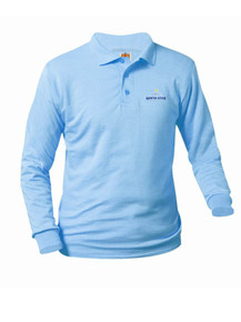 Jersey Knit Long Sleeve Polo Shirt - North Star