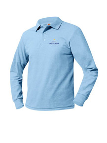 Pique Knit Long Sleeve Polo Shirt - North Star