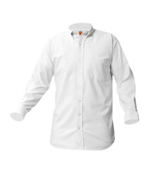 Boys Long  Sleeve Oxford Shirt - White or Blue