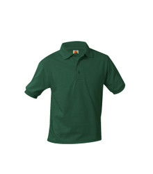 Jersey Knit Short Sleeve Polo Shirt - Academy Charter