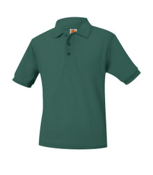 Pique Knit Short Sleeve Polo Shirt - Academy Charter