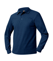 Pique Knit Long Sleeve Polo Shirt - Academy Charter