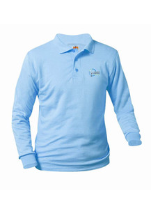 Jersey Knit Long Sleeve Polo Shirt - World Compass