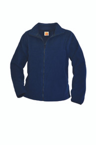 Navy Zip-Front Fleece Jacket - World Compass