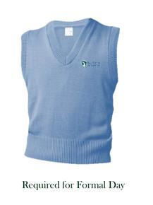 Light Blue V-Neck Pullover Sweater Vest - SkyView