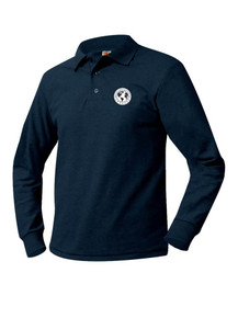 Pique Knit Long Sleeve Polo Shirt - Denver Language