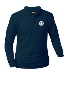 Jersey Knit Long Sleeve Polo Shirt - Denver Language