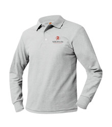 Pique Knit Long Sleeve Polo Shirt - Addenbrooke