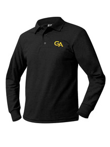 Pique Knit Long Sleeve Polo Shirt - GA