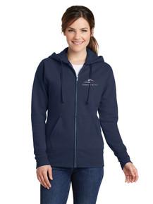 Ladies Fleece Full Zip Sweatshirt with Three Creeks Embroidery