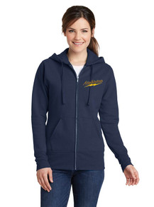 Ladies Fleece Full Zip Sweatshirt - Lightning Baseball