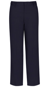 Navy Boys Adjustable Waist Band Flat Front Pants -Vega