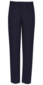 Navy Girls Adjustable Flat Front Pants - Vega