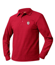 Pique Knit Long Sleeve Polo Shirt - All Souls