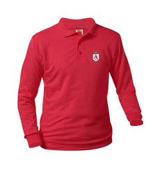 Jersey Knit Long Sleeve Polo Shirt - All Souls