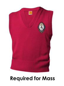 Red V-Neck Pullover Sweater Vest - All Souls