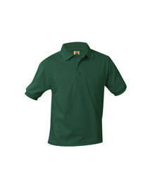 Jersey Knit Short Sleeve Polo Shirt - Littleton Academy