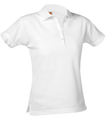 Girls Short Sleeve Pique Polo - Littleton Academy