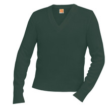 Unisex V -Neck Long Sleeve Pullover Sweater - Littleton Academy