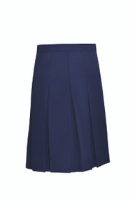 Girls Navy Skirt - Stitched down ten pleat