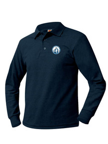 Pique Knit Long Sleeve Polo Shirt - Pinnacle
