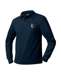 Pique Knit Long Sleeve Polo Shirt - Heritage Heights
