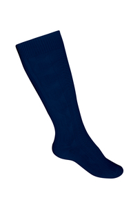 Girls Cable Knee Hi Socks - Navy